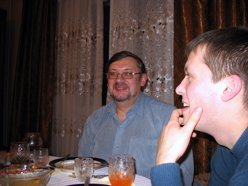 Lena's husband, Nikolai, and her son, Vasya.