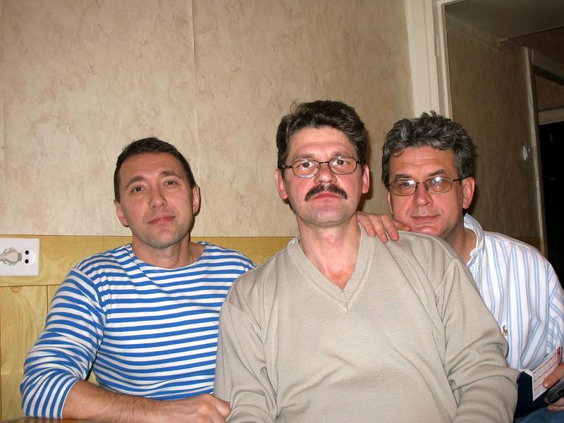 Sergei, Sasha, Rustem - childhood buddies.