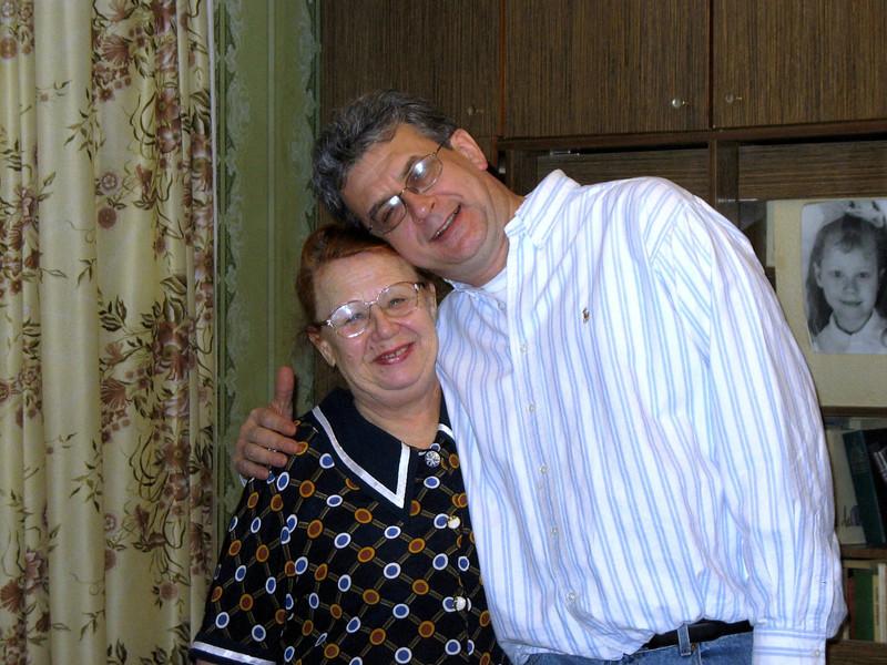 With Yelena Poklonova, an old family friend & former colleague of Rustem's Mom.