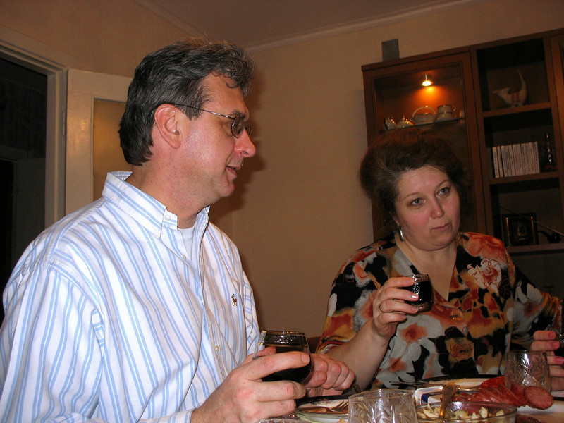 Rustem & one of his dearest childhood friends, Lena Uliyanova.
