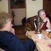 Visiting Lena Uliyanova's parents in their home with tea served from a samovar. (Zlatoust)