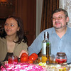 Natasha Denisova & Nikolai. Dinner at Lena & Nikolai's home in Chelyabinsk.