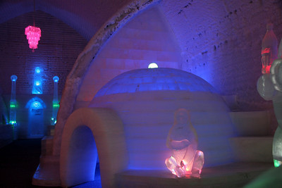 A small inside igloo