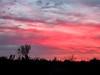 Glowing morning sky
