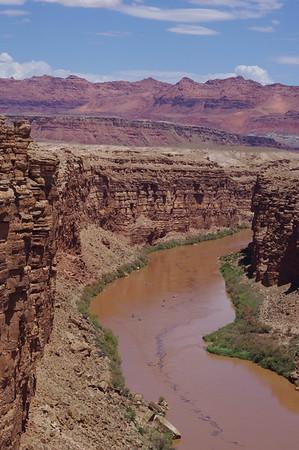 colorado river from the Navajo Bridge