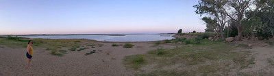 beach at Ute State Park (NM)
