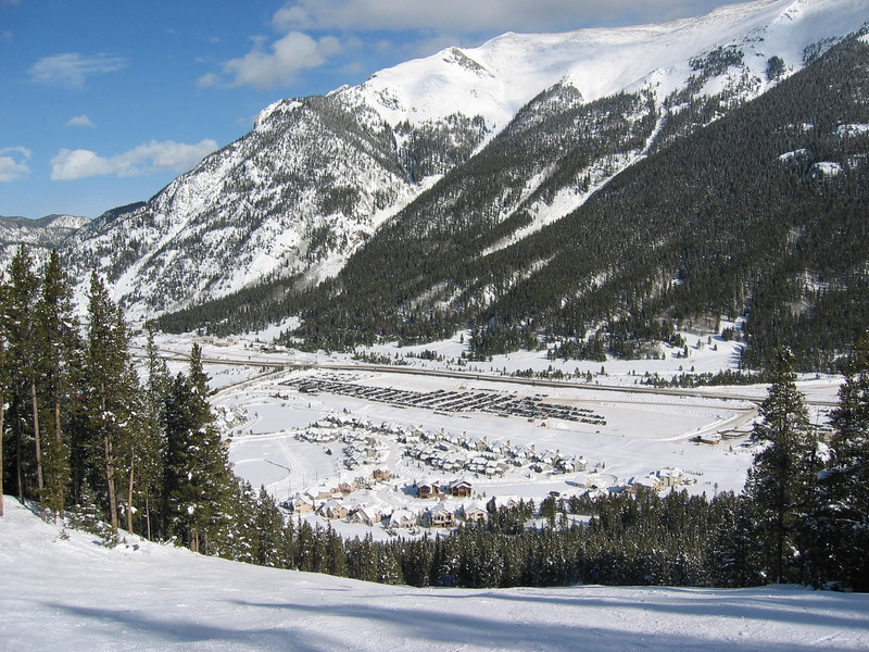 Part of Copper Mountain resort