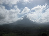 A different side of Arenal. Not all of the clouds are clouds. Some is smoke from the volcano.