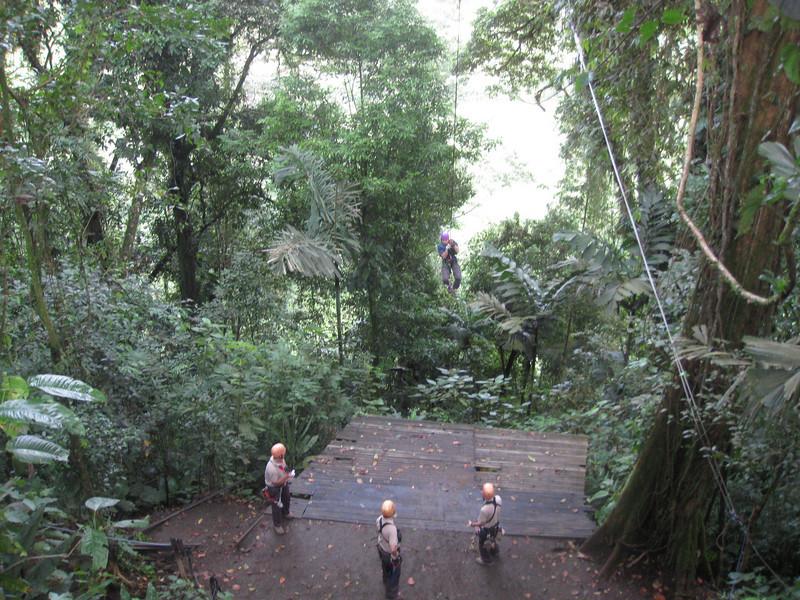 Huy on the Tarzan swing.