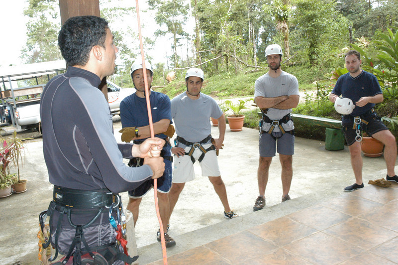 Getting instruction on how to rappel