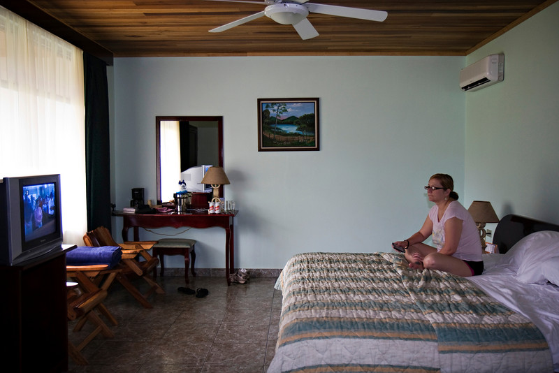 Our room at the Volcano Lodge, Arenal, Costa Rica.