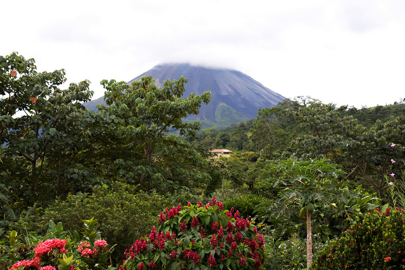 Arenal Volcano, view from our room.
