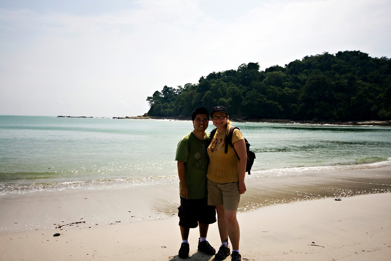 Me and Autumn on the beach at Manuel Antonio National Park.