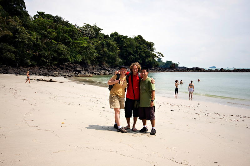 Autumn, Alonzo and me on the beach at Manuel Antonio National Park.