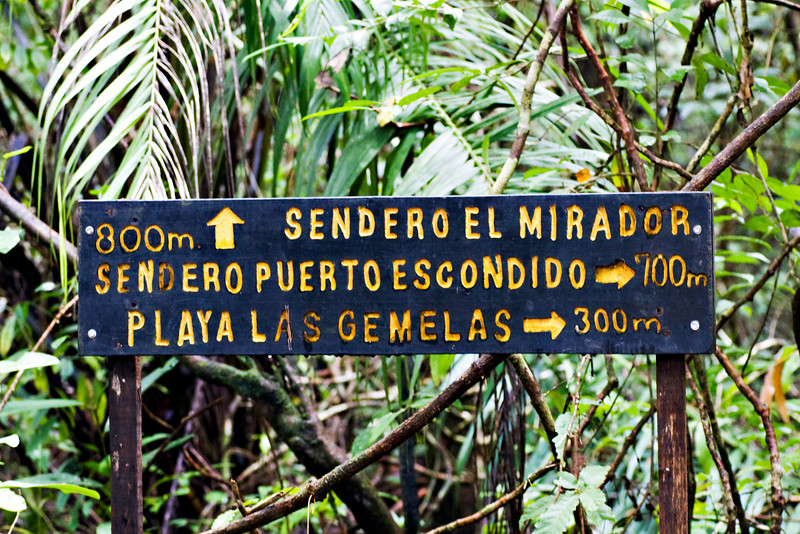 We hiked all of these trails at the Manuel Antonio National Park.