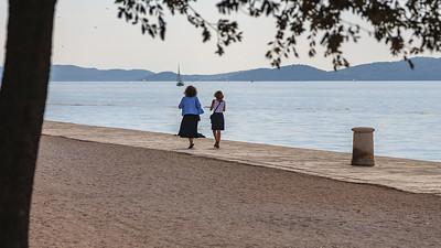 Walk along the water in Zadar