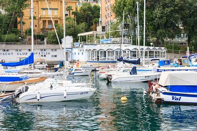 Boats in the Opatija Yacht Club Harbor