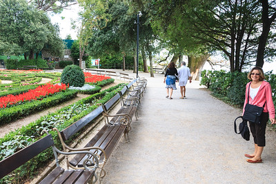 Walking near Villa Angiolina with its flower park