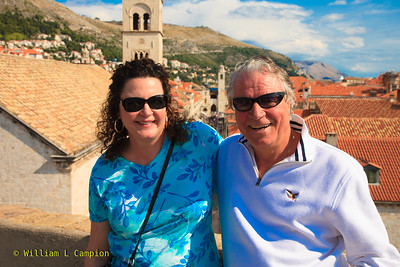 Miro & Irene at   Old Town Walled City in Dubrovnik