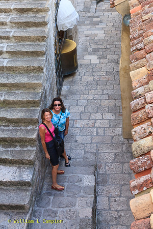 Melinda & Irene at   Old Town Walled City in Dubrovnik