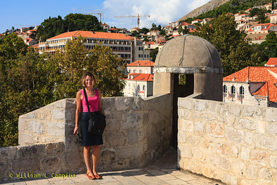 Milinda at  Old Town Walled City in Dubrovnik