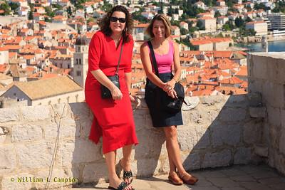 Melinda & Irene at  Fortress Lovrijenac