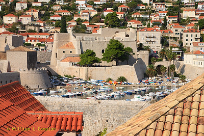 The small boat harbor  in Dubrovnik