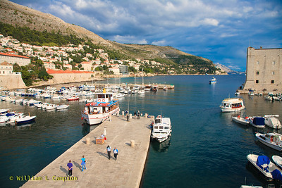 The dock area in Old Town Walled City in Dubrovnik
