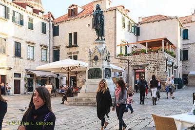Street Scenes in old Town Walled City in Dubrovnik