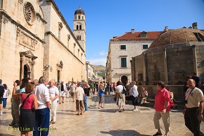 Courtyard and People at the Stradun-Placa of the Old Town