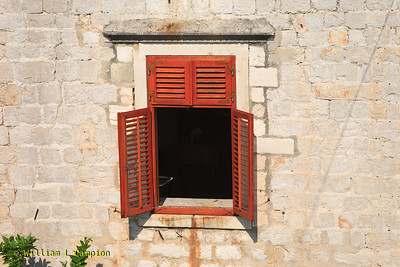 A WIndow  in Old Town Walled City in Dubrovnik