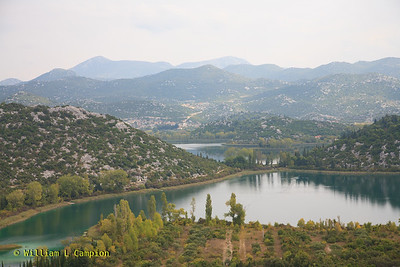 Bacinska Lake, Croatia inland lake in the mountians Between Split and Dubrovnik