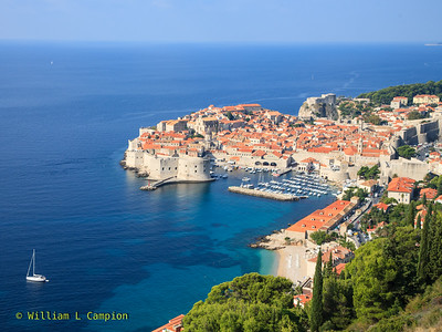 The City of Dubrovnik as we drive up the mountian on our way to Zadar