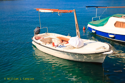 This is a typical finhing boat, Cavtat