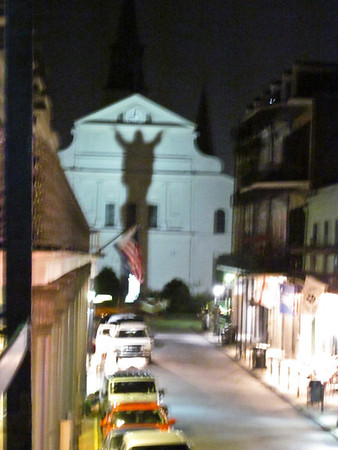 cool shadow on the church