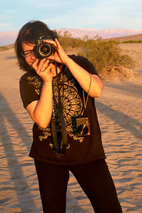 Tara at the Mesquite Flat Sand Dunes