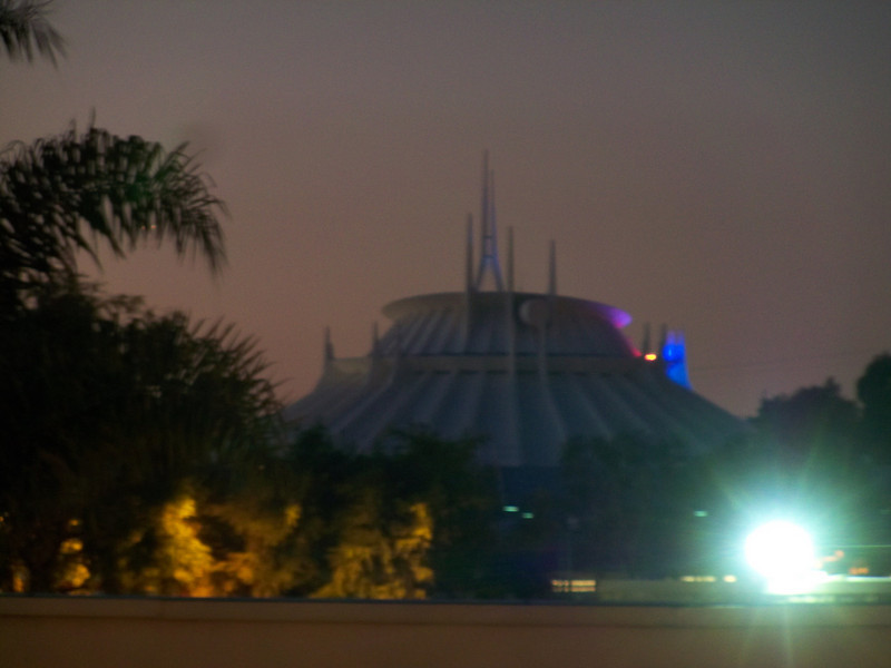 Space Mountain, back in its original white paint scheme.