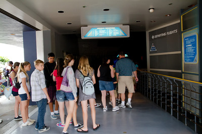 Disneyland Star Tours Queue Line