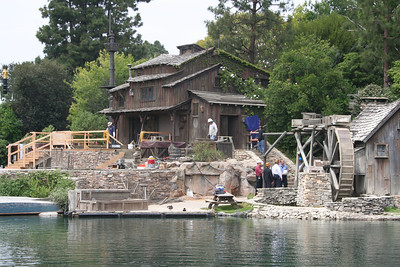 Tom Sawyer's Island under construction