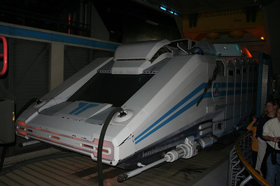 Star Tours ship being repaired