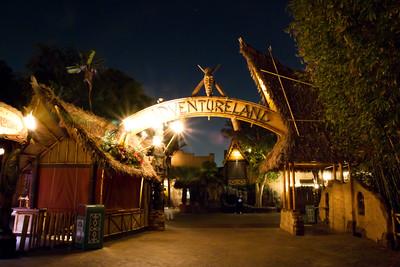 Adventureland Enterance after closing