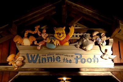 Winnie The Pooh Sign after dark
