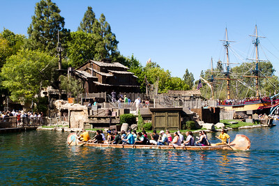 Davy Crockett's Explorer Canoes in Front of Tom Sawyer's Island