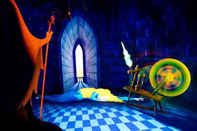 Sleeping Beauty Story inside the Sleaping Beauty's Castle
