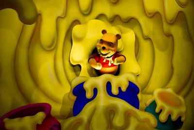 Pooh in lots of honey