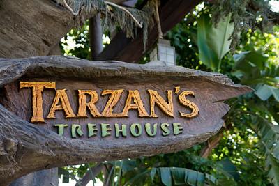 Tarzan's Treehouse Sign