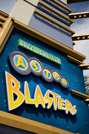 Buzz Lightyear Astro Blasters Sign