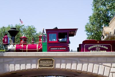 Earnest S Marsh Engine over the Disneyland Enterance