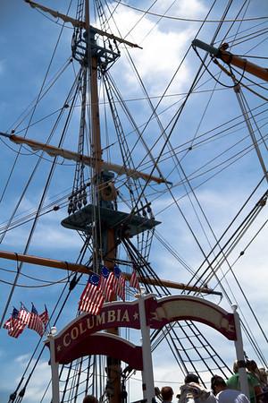 Sailing Ship Columbia loaidng dock & rigging
