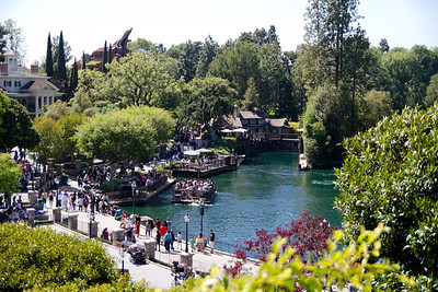 New Orleans Square & Rivers of America from Tarzan's Treehouse